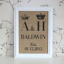 Mr & Mrs wall decor white A4