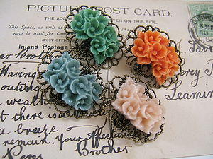 Vintage Style Blossom Pin - pins & brooches