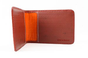 Reclaimed Fire Hose Double Card Holder - bags & purses