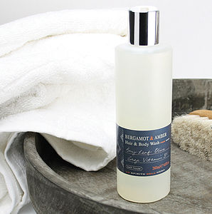 Men's Bergamot And Amber Hair And Body Wash