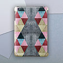Personalised Triangles Case For iPad Mini