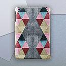 Personalised Triangles Case For iPad Mini
