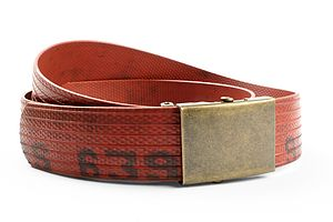 Reclaimed Fire Hose Slider Belt - women's accessories