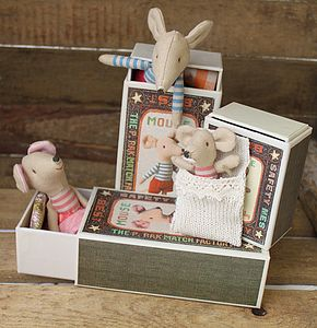 Vintage Style Matchbox Mice - shop by price