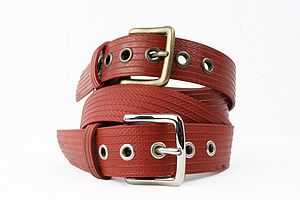 Reclaimed Fire Hose West End Belt - men's accessories