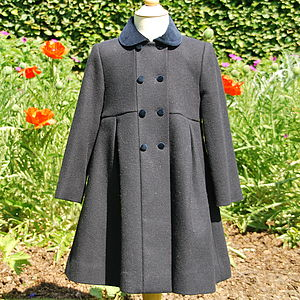 Formal Girl's Princess Cut Coat - clothing