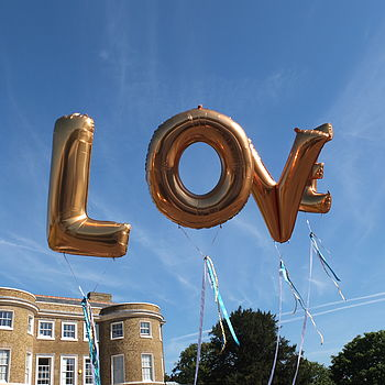 Giant L.O.V.E. Balloons