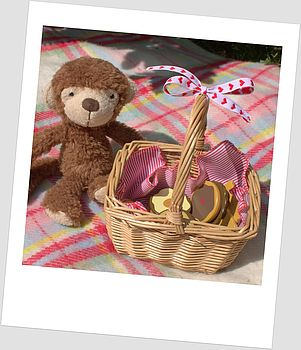 Childs Cookie Set In Wicker Basket