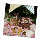 Childs Cookie Set In Wicker Basket