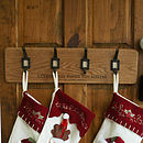 Personalised Christmas Stocking Hanger Rack