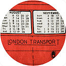 London Transport cushion