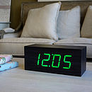 LED Black Square Click Clock