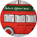 Vintage 1979 Harrods London Bus Cushion