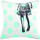Big Spot Print Parisian Cushion Cover