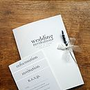 Text Design Wedding Stationery Range