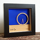 London Eye Mini Wall Art (Metallic Ocean Blue)