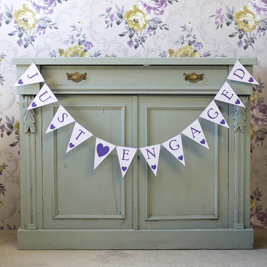 Just engaged bunting by daisyley designs notonthehighstreet just engaged bunting amipublicfo Gallery