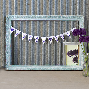 'Thank You' Bunting - outdoor decorations