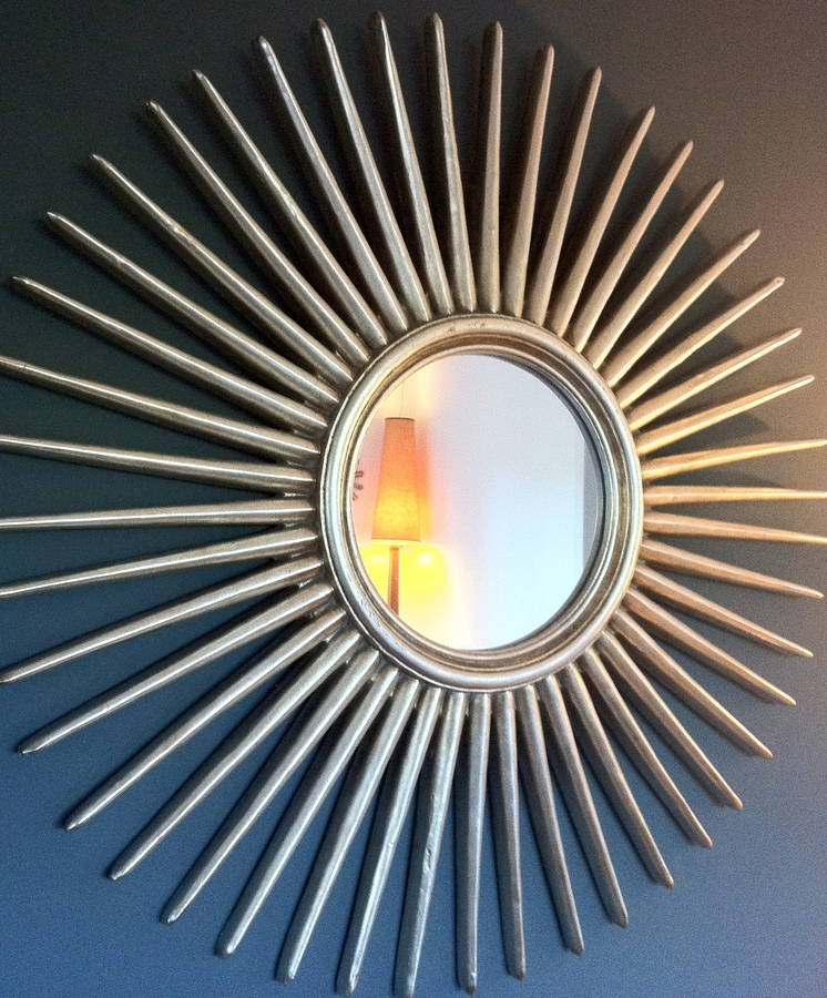 Antique Silver Starburst Wall Mirror By The Forest Amp Co