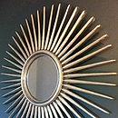 Antique Silver Starburst Wall Mirror
