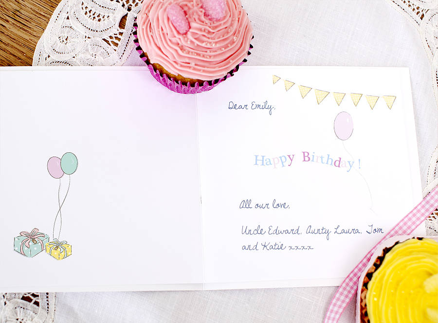 Girls Pink Card Little Ballerina By Lily Summery