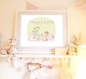 Children's Art Print 'Sisters'