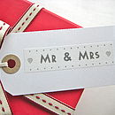 'Mr & Mrs' Gift Tag