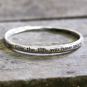 'Dream, Live The Life…' Bracelet - bracelets & bangles