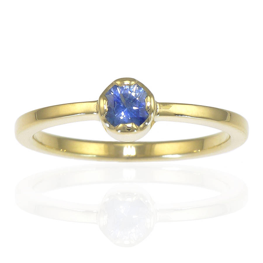Lilia Nash Jewellery Ethical Blue Sapphire Ring In 18ct Gold