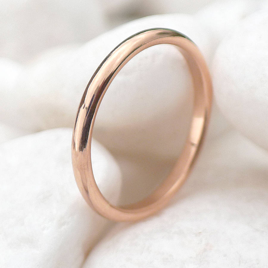 ethical 18ct rose gold wedding ring by lilia nash jewellery