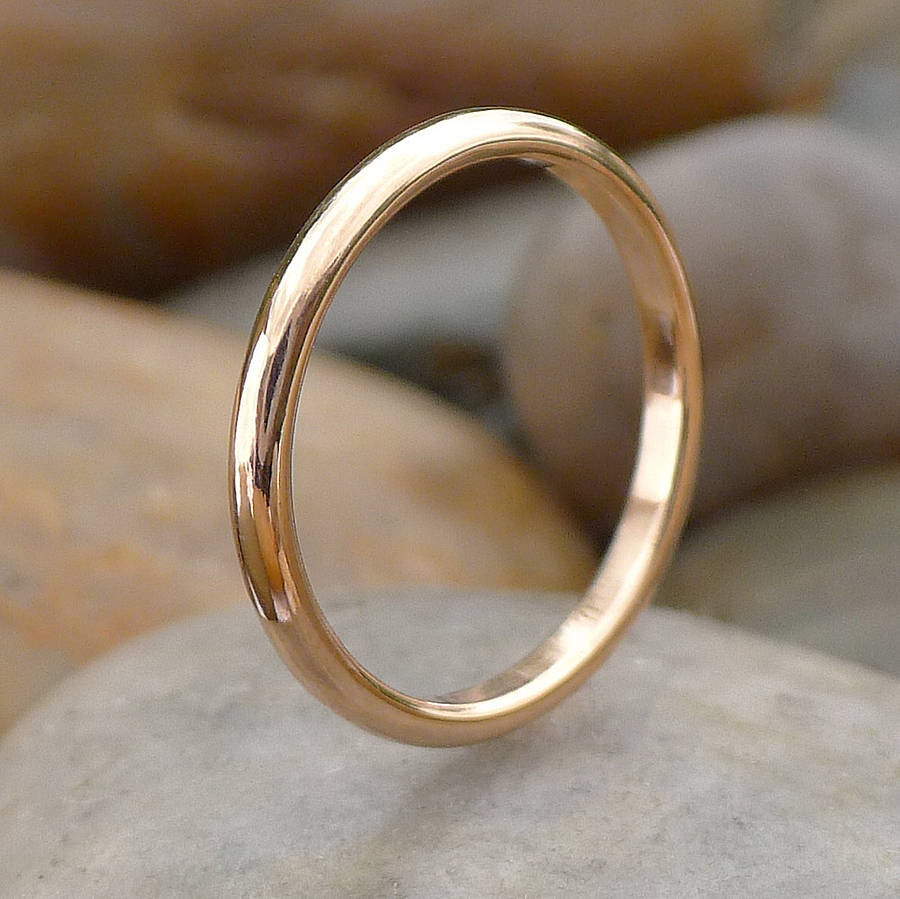 ethical 18ct rose gold wedding ring by lilia nash. Black Bedroom Furniture Sets. Home Design Ideas