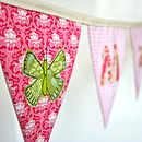 Personalised Girl's Butterfly Bunting