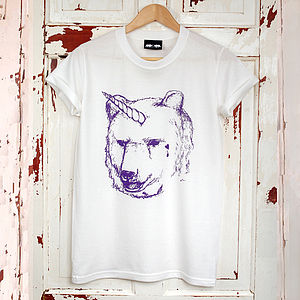 Unicorn Bear T Shirt - women's fashion