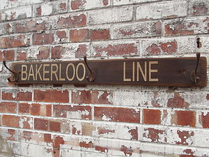 'Bakerloo Line' Hook Board - furnishings & fittings