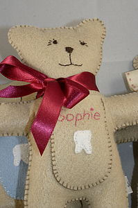 Personalised Tooth Fairy Pocket Bear - soft toys & dolls