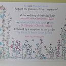 English Garden Wedding Invitation