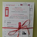 London Wedding Information Cards