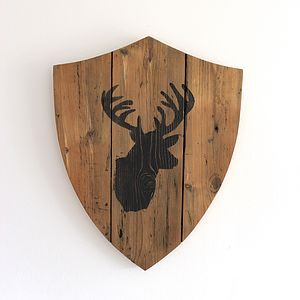 Handmade Reclaimed Wooden Shield Plaque
