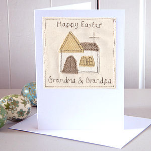 Personalised Embroidered Easter Card