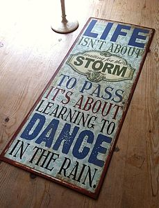 Large 'Life' Quote Sign - room decorations