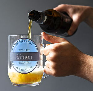 Personalised Beer Tankard - gifts for him