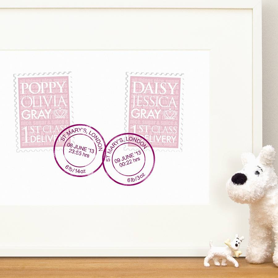 Personalised New Baby Gifts Australia : Personalised twin baby gifts australia gift ftempo