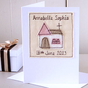 Personalised Girl's Christening Card - christening cards