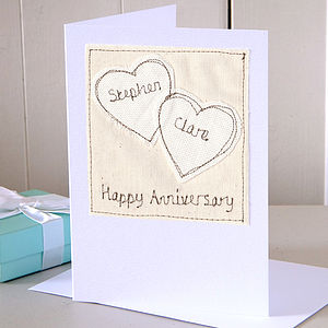 Personalised Wedding Anniversary Card - wedding cards