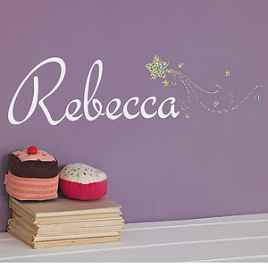 Personalised Star Sparkle Wall Sticker - dining room