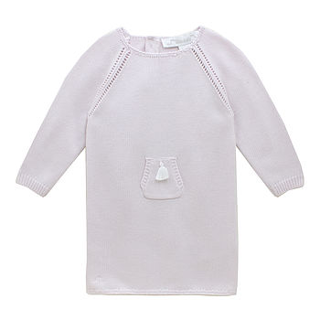 French Design Knitted Baby Dress