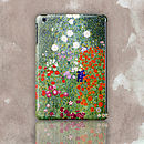 Gustav Klimt 'Flower Garden' Case For iPad