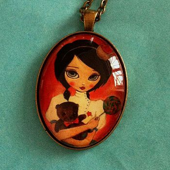 Dollypop pendant oval