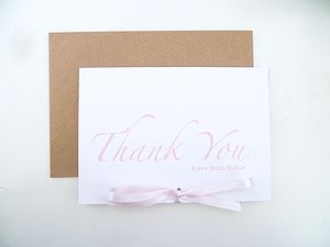 Bow 'Thank You' Card