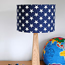 Blue Stars Lampshade On Base